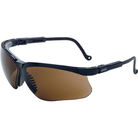 Uvex UVXS3201 Safety Wraparound Safety Eyewear 1 Each Espresso LensBla