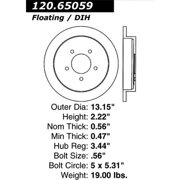 StopTech 127.65059L StopTech Sport Rotors; Drilled And Slotted; Rear Left;13.15 in. Dia.; 2.19 in. Height;