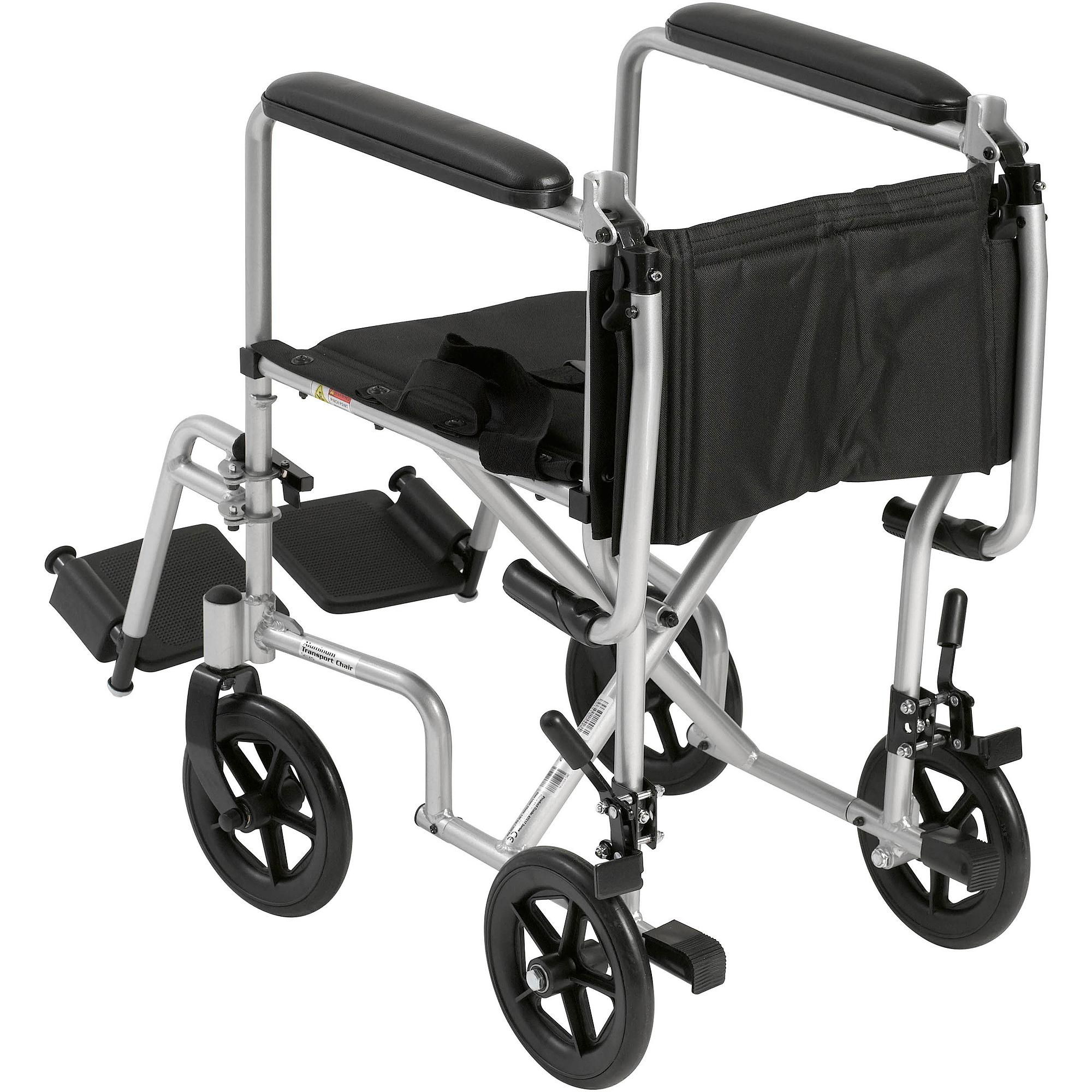 "Drive Medical Lightweight Transport Wheelchair 17"" Seat Silver"