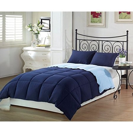 Collection Down Comforter (Chezmoi Collection Goose Down Alternative Reversible Comforter Set)