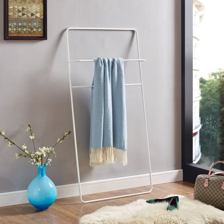 - Southern Enterprises Mikla White Leaning Ladder Towel/Blanket Rack, White