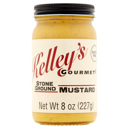 - Kelley's Gourmet Stone Ground Mustard, 8 oz, 6 pack
