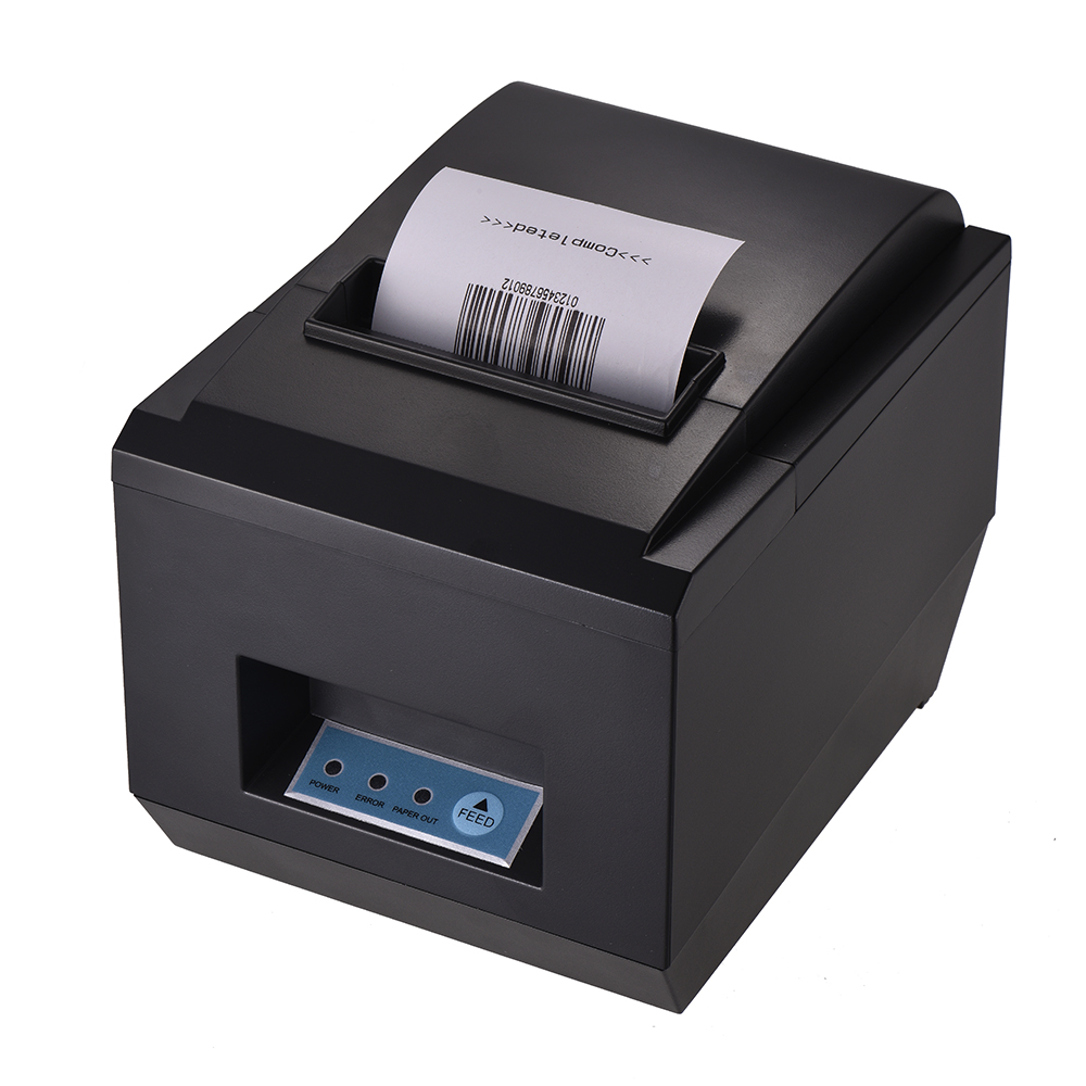 80mm Portable Thermal Receipt Printer USB Port High Speed Printing Compatible with ESC/POS Print Commands Auto Cutter for Supermarket Store Shop Home Business