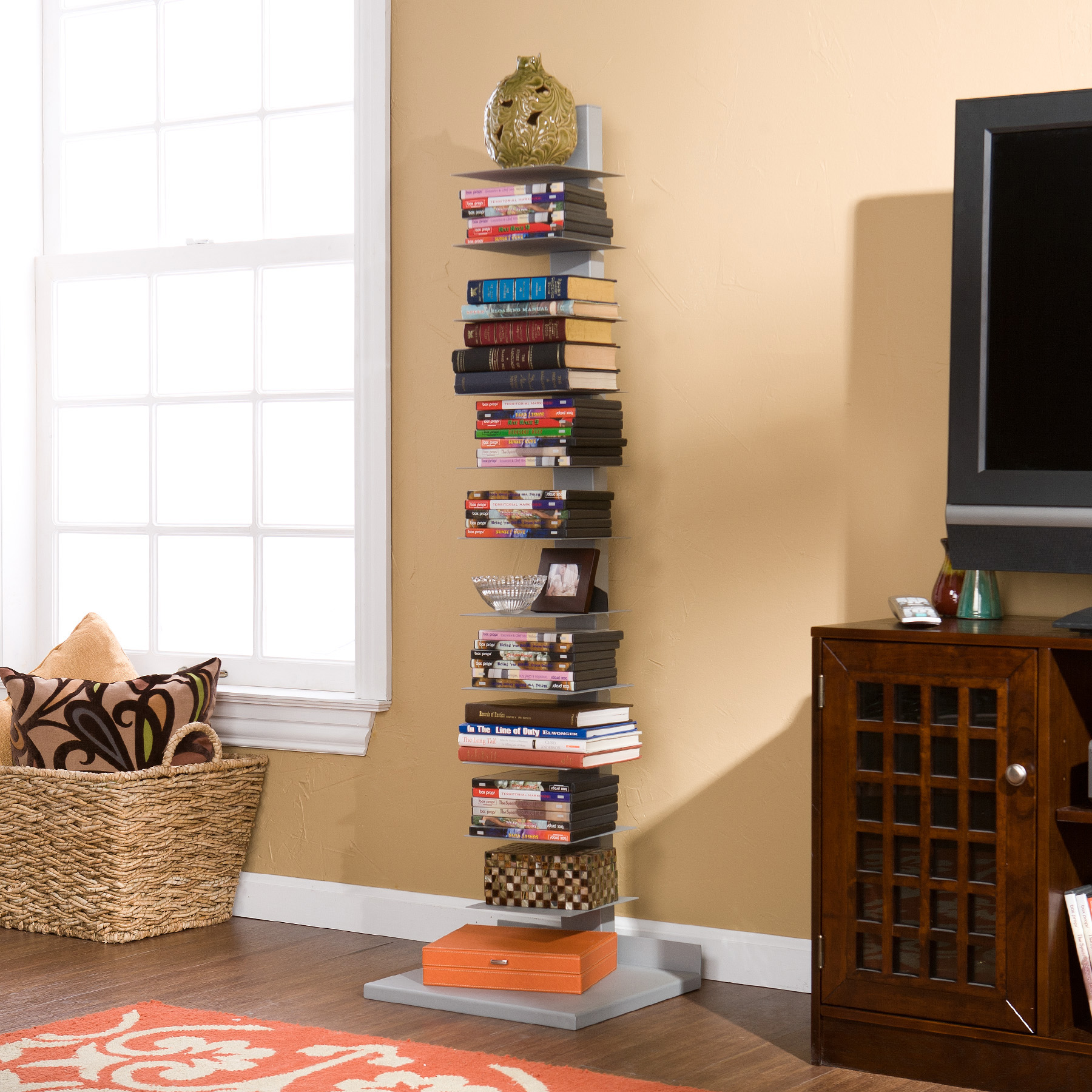 Southern Enterprises Tampa Spine Book Tower Walmart