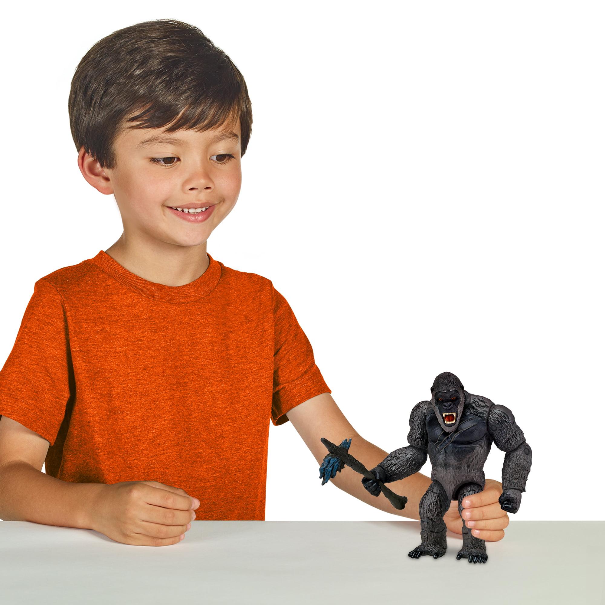 Godzilla Vs Kong Basic Kong With Battle Axe Action Figure 6 Walmart Com Walmart Com