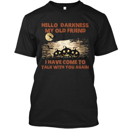 Hello Darkness Halloween Special T-shirt Hanes Tagless Tee - Halloween Specials 1980s