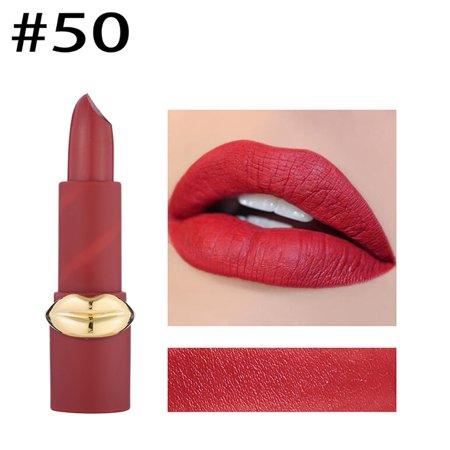 MISS ROSE Women Matte Lip Shape Lipstick Moisturizer Smooth Lipstick Long Lasting Charming Lip Makeup Beauty -