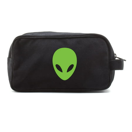 Sci-Fi Alien Head Canvas Shower Kit Travel Toiletry Bag Case