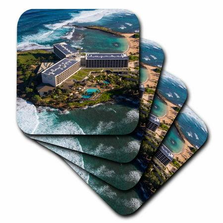 3dRose Turtle Bay, Resort, North Shore, Oahu, Hawaii - Soft Coasters, set of