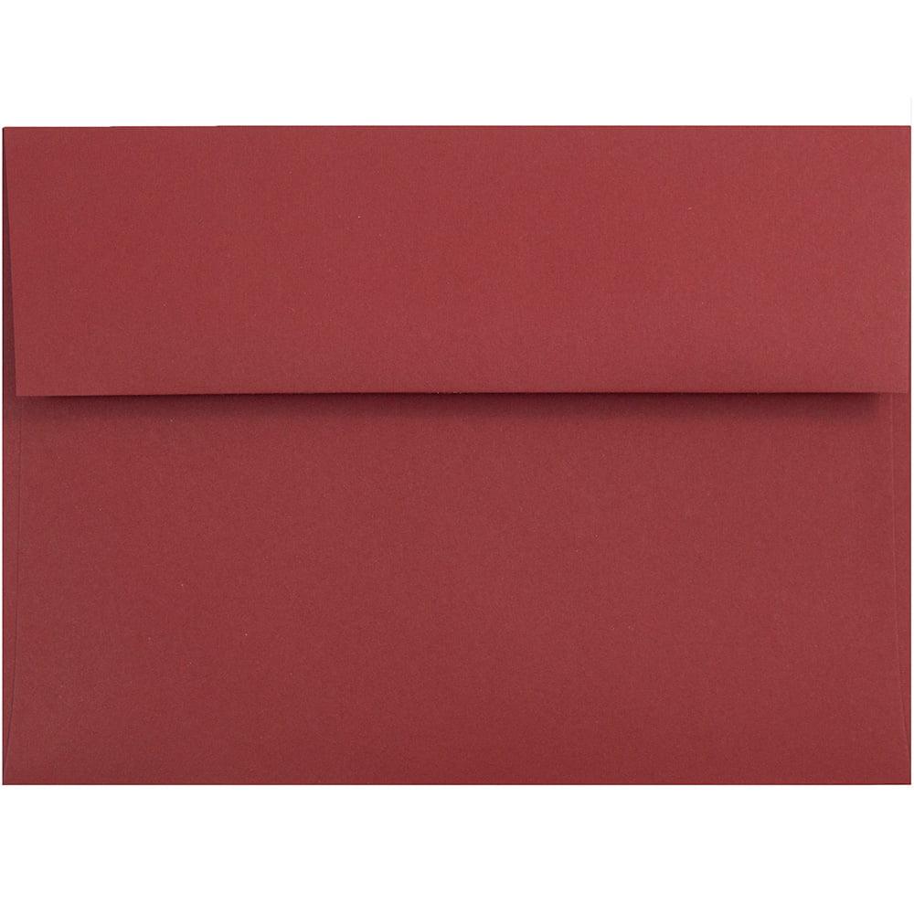 "JAM Paper® A6 Invitation Envelopes - 4 3/4"" x 6 1/2"" -Dark Red - 50/pack - image 1 of 1"