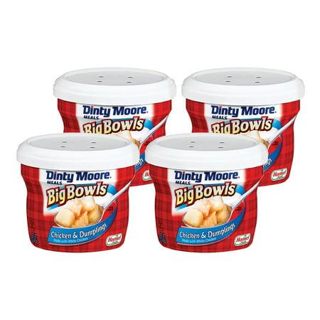 (4 Pack) Dinty Moore Big Bowls Chicken & Dumplings 15 oz Microwave