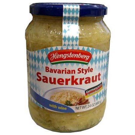 Bavarian Style Sauerkraut with Wine, 24 oz (680g) - Mini Sutter Home Wine Bottles