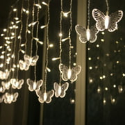 Led Butterfly String Light Waterproof Curtain Christmas Holiday Decoration Bulbs