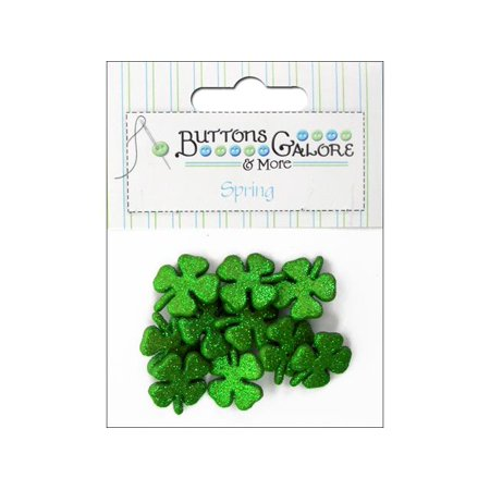 Buttons Galore Theme Spring Glitter Shamrocks - Spring Prom Themes