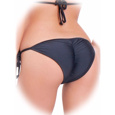 FITTOO Sexy V Cut Bikini Bottom Tie Sides For Women Cheeky Booty T-Back Ladies
