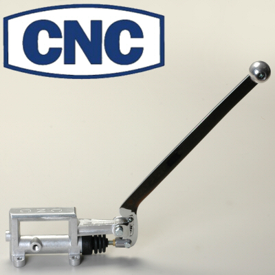 Cnc Staging Hand Brake For Drag Racing With 3/4 Inch Bore Cylinder Angled Handle With Silver Knob