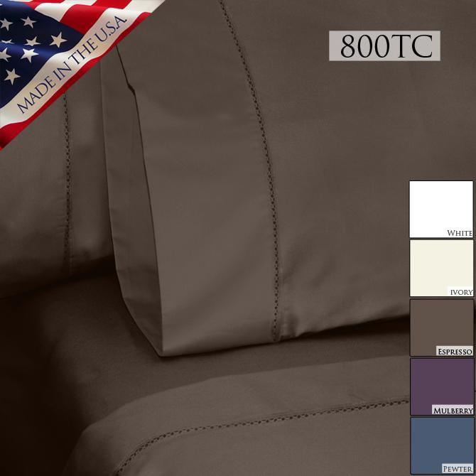Veratex Grand Luxe Bellisimo Egyptian Cotton Sateen Deep Pocket 800 Thread Count Sheet