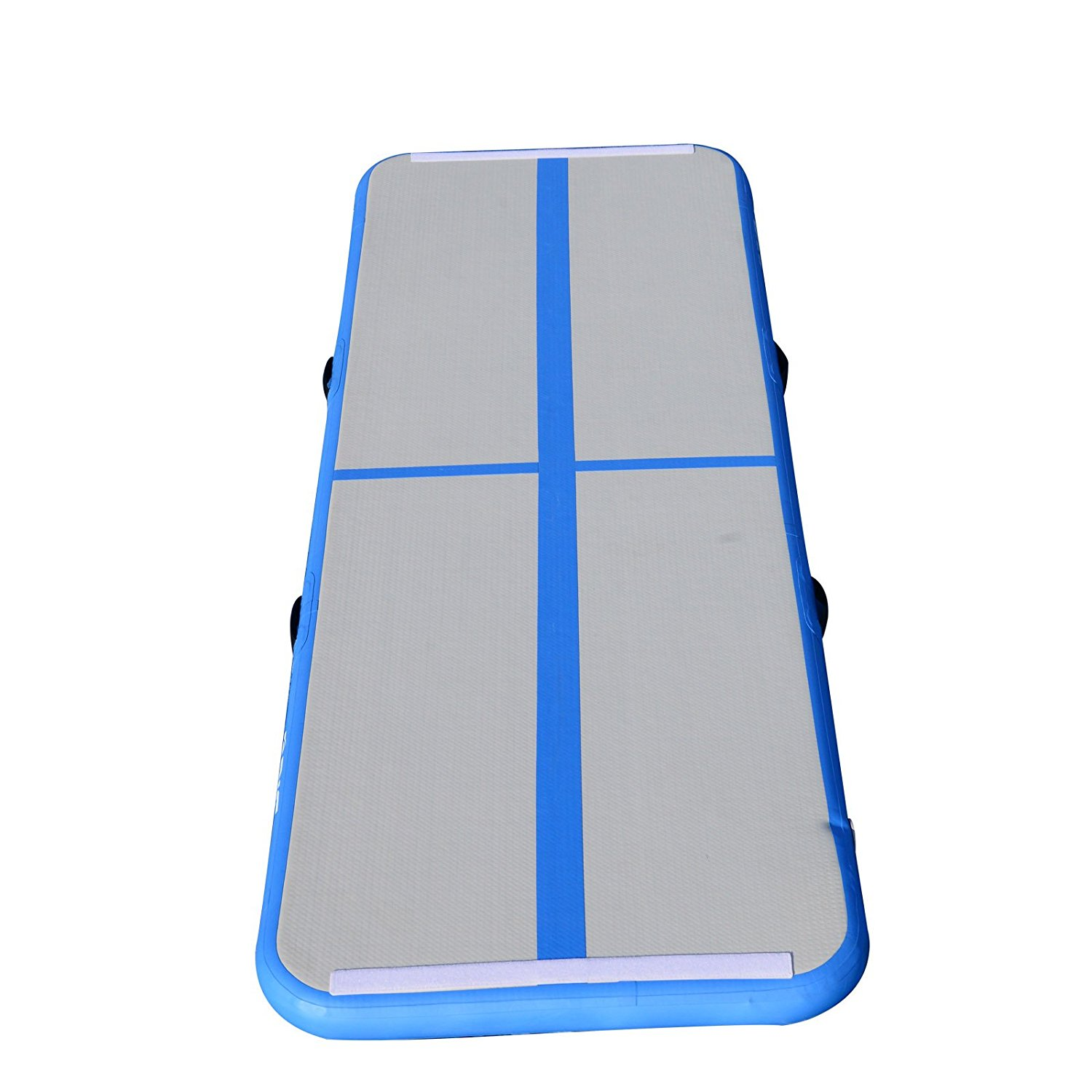 Air Track Floor Home Gymnastics Tumbing Mat Inflatable Air Training track GYM Blue by BRIS