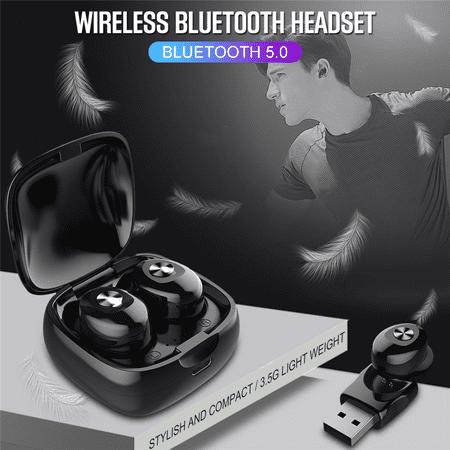 Wireless Bluetooth Stereo Headphone. Bluetooth V5.0 Earbud. Waterproof Sports Headset (Single+USB charging) - image 9 de 13