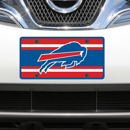 Buffalo Bills Super Stripe Acrylic Cut License Plate - No Size