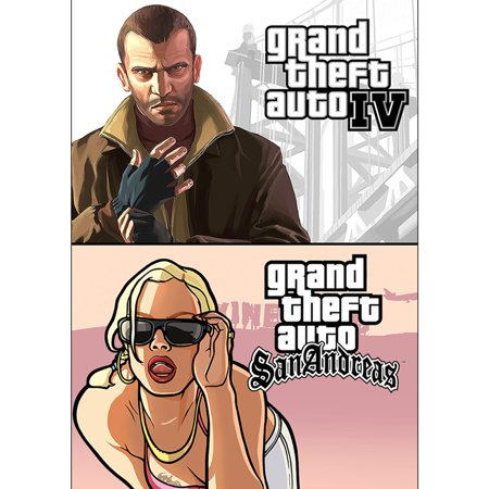 Grand Theft Auto IV + Grand Theft Auto: San Andreas Bundle (PC)(Digital  Download)