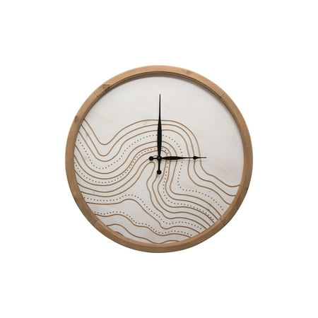 Foreside Home and Garden Routed River Wall Clock