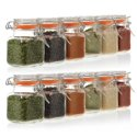 24-Pack California Home Goods Square Glass Spice Jar