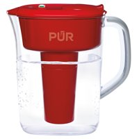 PUR Water Filter Pitcher with Lead Reduction 7 Cup, PPT711R, Red