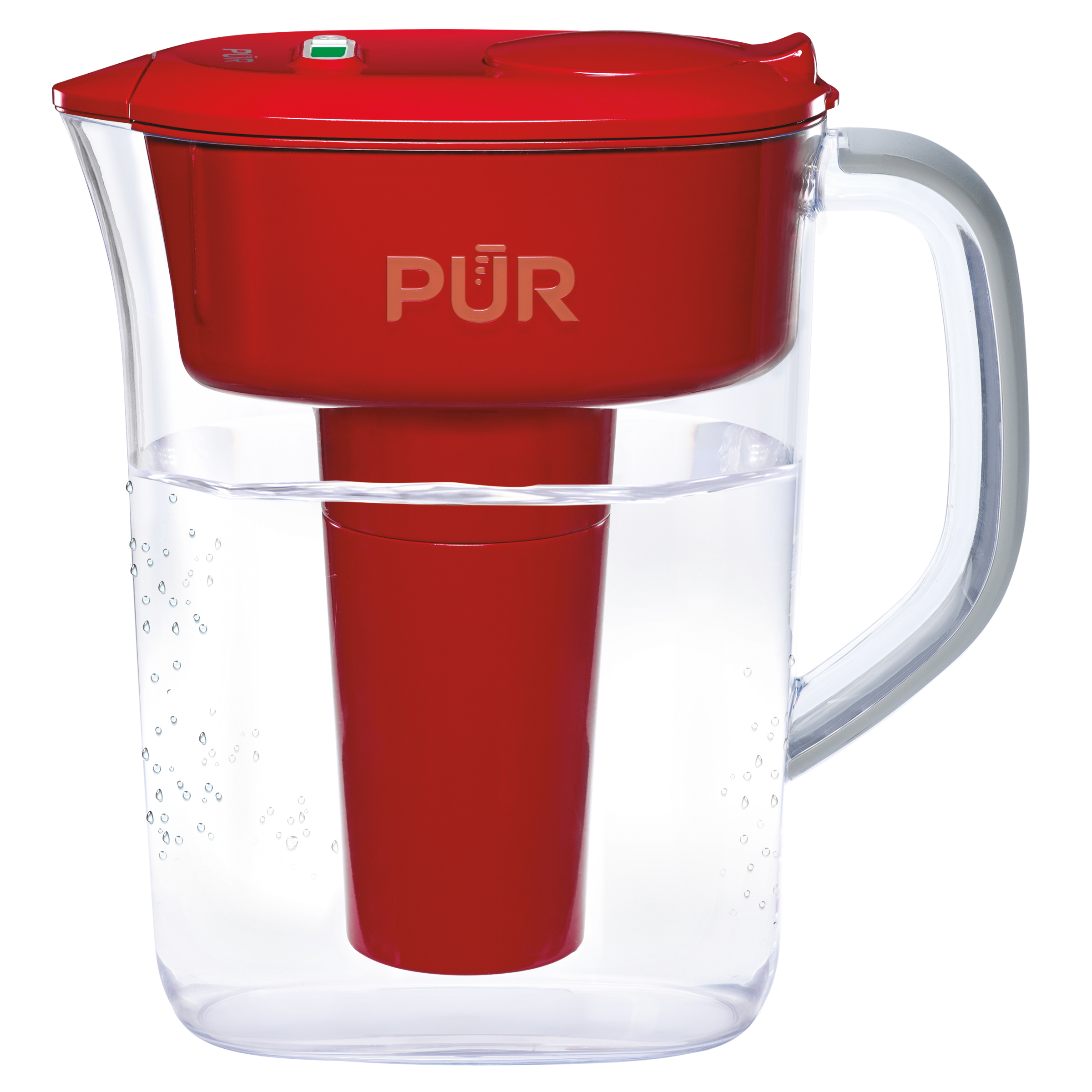 PUR Ultimate Pitcher Water Filter with Lead Reduction 7 Cup, PPT711R, Red