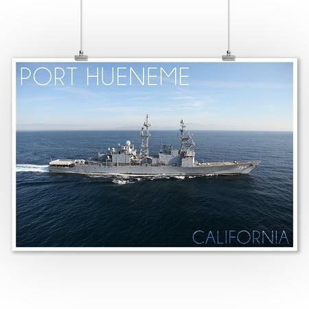 Port Hueneme, California - USS Paul F. Foster Photograph (9x12 Art Print, Wall Decor Travel (Foster Photograph)
