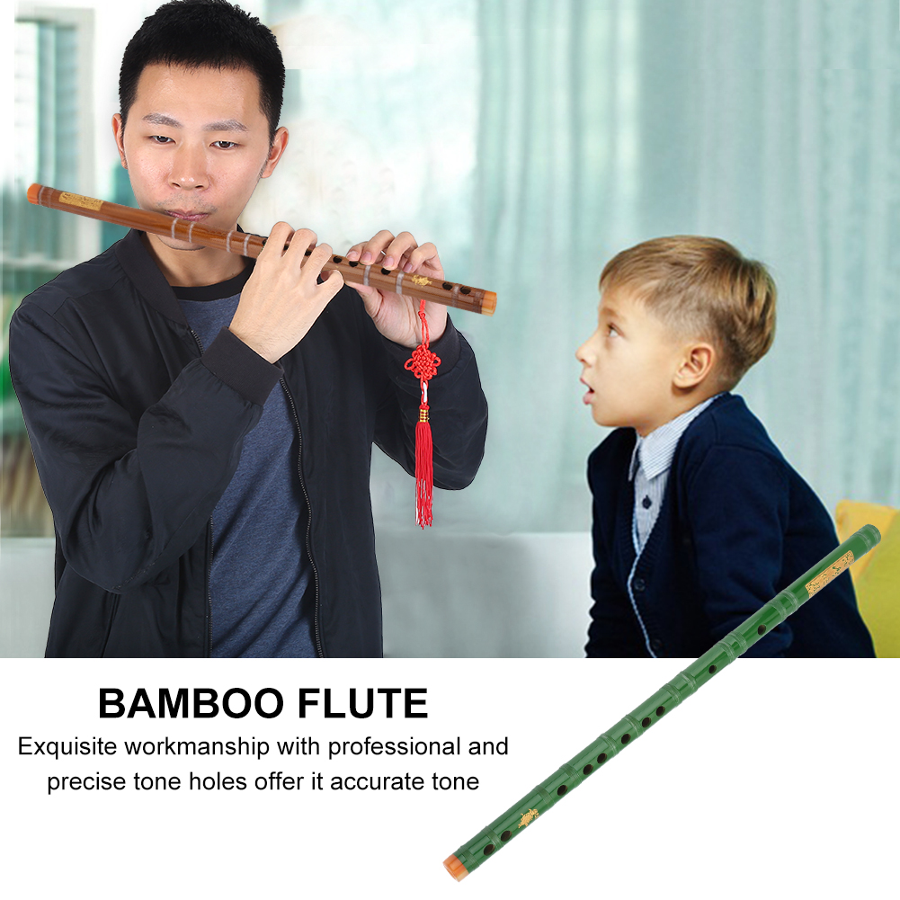 Yosoo Chinese Traditional Woodwind Musical Instrument Beginners Kids Bamboo Flute in F/G key , Bamboo Flute Beginner, Chinese Bamboo Flute
