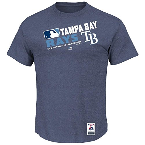 MLB Men's Authentic Collection Team Choice T-Shirt (Medium, Tampa Bay Rays)