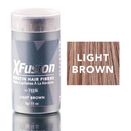Xfusion Hair Fiber - XFusion Light Brown Keratin Hair Fibers (Size : 0.11 oz)
