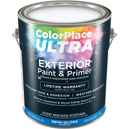 Color Place Ultra Semi Gloss Exterior Accent Base Paint And Primer 1 Gal