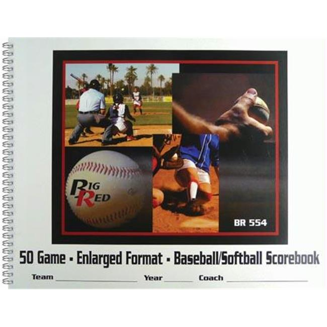 Olympia Sports BK051P 11 Player Baseball-Softball Scorebook by Olympia Sports