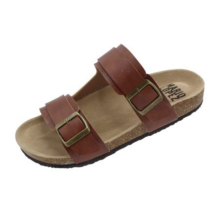 Mario Lopez Champ-05 Double Buckle Strap Sandals