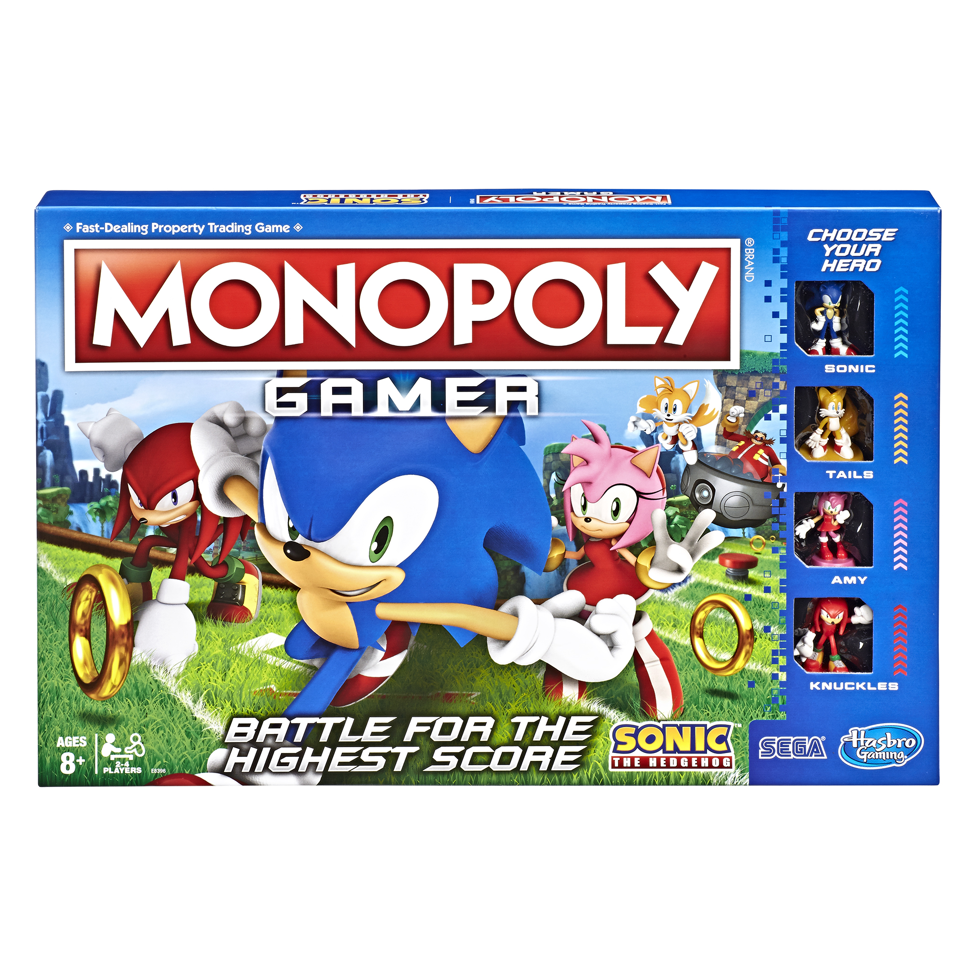 Monopoly Gamer Sonic The Hedgehog Edition Board Game For Ages 8 And Up Walmart Com Walmart Com
