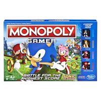 Monopoly Gamer Sonic the Hedgehog Edition Board Game for Ages 8 and Up