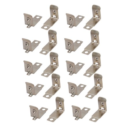Unique Bargains 20Pcs Silver Tone ATM Mounted AAA/N/12V Battery Positive Negative Contact Plate