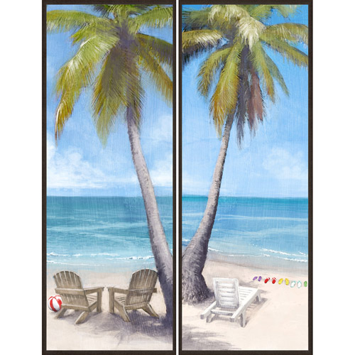 Palm Trees by the Sea, Set of 2