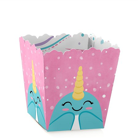 Narwhal Girl - Party Mini Favor Boxes - Under The Sea Baby Shower or Birthday Party Treat Candy Boxes - Set of - Under The Sea Baby Shower Invites