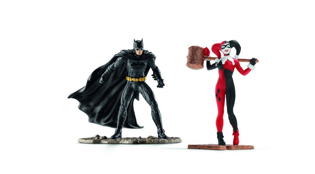 North America Batman vs. Harley Quinn Scenery Pack, Hand painted. By Schleich by