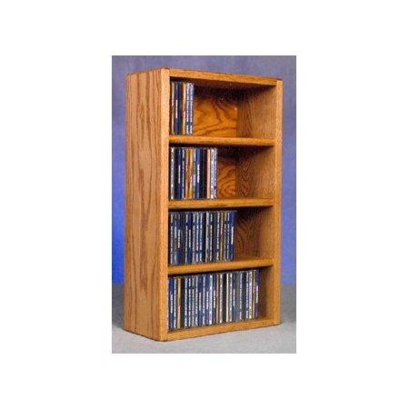 14.25 in. CD Storage Rack (Honey Oak)