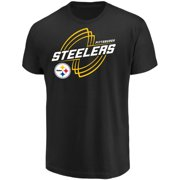 Men s Majestic Black Pittsburgh Steelers Pigskin Classic T-Shirt bb5c2333b