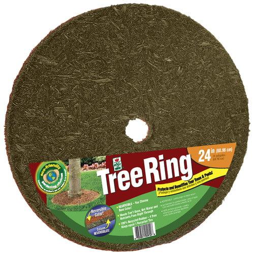 """Easy Gardener/weedblock TR24912-30 24"""" Red & Brown Tree Ring"""