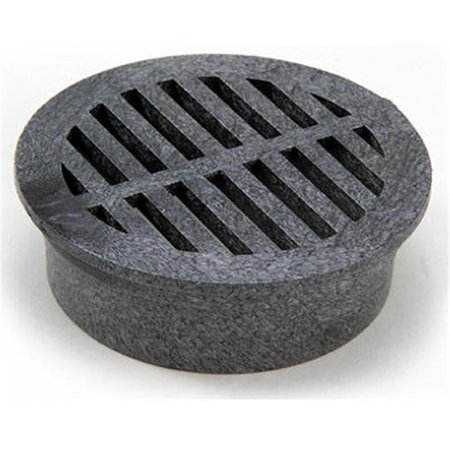 14 3 in. Black Round Structural Foam Polyolefin Grate ()