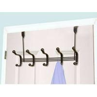 Over-The-Door 5 Hook, Bronze