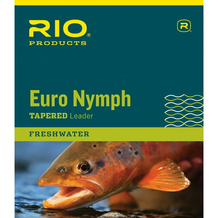 RIO 2-Tone European Nymph Trout Fly Line Leader w/ Tippet (Best Wet Flies For Brown Trout)