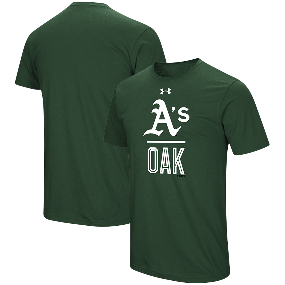 Oakland Athletics Under Armour Performance Slash T-Shirt - Green