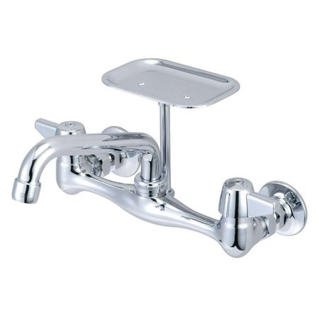 Central Brass 0048-UA Polished Chrome 1.5 GPM Wall Mounted Kitchen Faucet